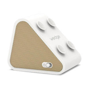 WEDGE WHIte with GOLD